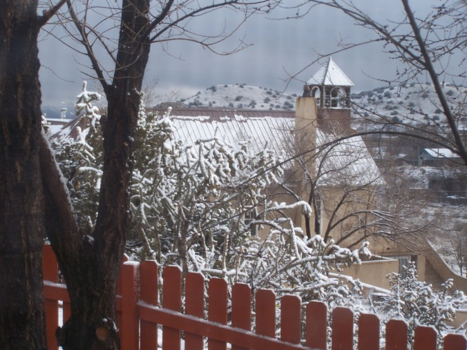Madrid in snow